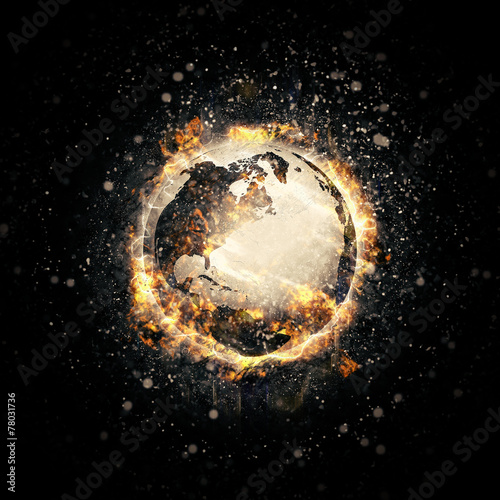 Foto  Earth in fire