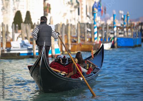 Türaufkleber Gondeln Venise