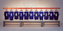 Blue And White Football Shirts