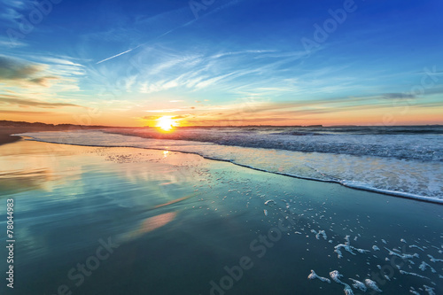 Canvas Prints Beach Sunset