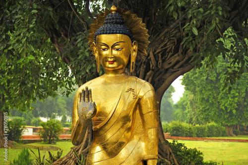 Obraz Złoty Budda w Nepalu - fototapety do salonu