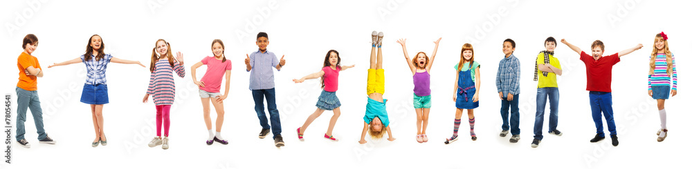 Fototapety, obrazy: Combination of boys and girls isolated on white