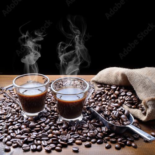 Fototapety, obrazy: Two coffee