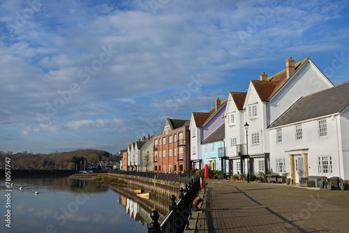 Waterfront Houses, Wivenhoe,Essex,UK Canvas Print