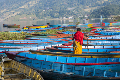 Wall Murals Nepal view of the lake in Pokhara