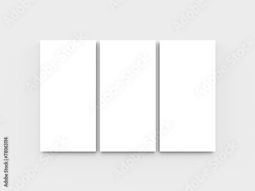 Fotografie, Obraz Blank triptych
