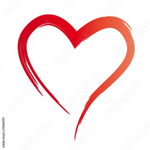 Gemaltes Rotes Herz Symbol Der Liebe Hochzeit Heirat Verlobung Trauung Freundschaft Und Treue Vertrauen Und Verbundenheit Sich Lieben Und Achten Buy This Stock Vector And Explore Similar Vectors At Adobe Stock