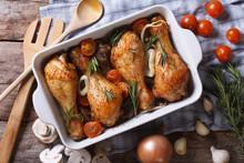 Baked Chicken Legs With Vegeta...