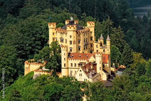 Photo sur Toile Chateau Hohenschwangau Castle