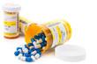 Leinwandbild Motiv Prescription medication in pharmacy vials