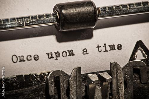 Fotografie, Obraz  Old vintage typewriter