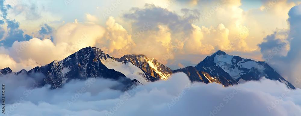 Fototapeta alpine mountain landscape