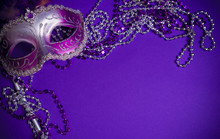 Purple Mardi-Gras Or Venetian ...