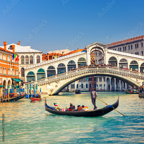 Cadres-photo bureau Gondoles Rialto Bridge in Venice