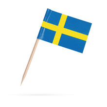 Miniature Flag Sweden. Isolate...