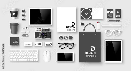 Fotografía  Set of corporate identity and branding. Vector