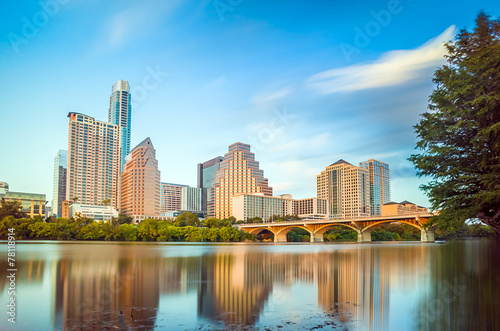 view of Austin, downtown skyline Canvas Print