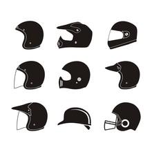 Helmet Silhouette - Helmet Ico...