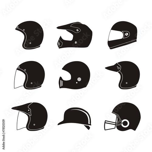 Fényképezés helmet silhouette - helmet icon sets