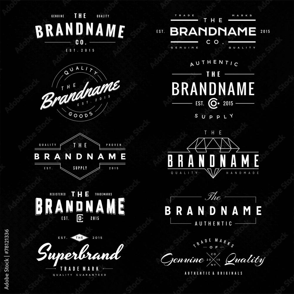 Fototapety, obrazy: vintage logo & insignia 1