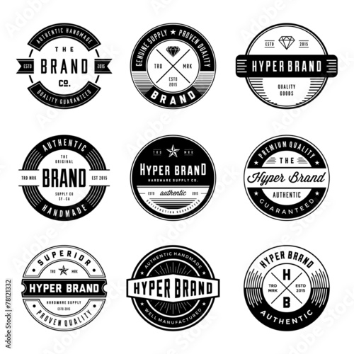 Printed kitchen splashbacks Retro VINTAGE LOGO & BADGES 1