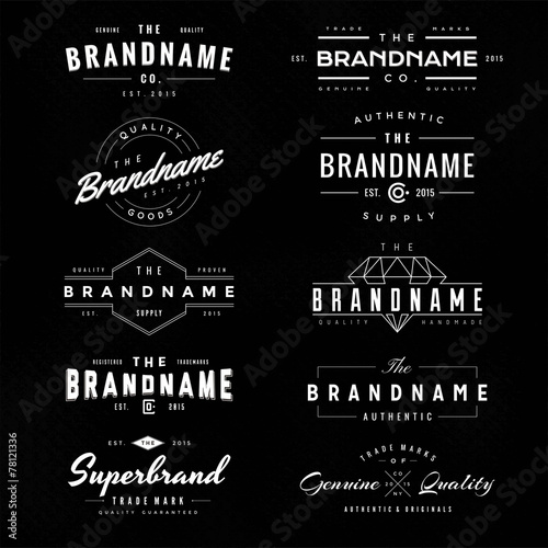 Printed kitchen splashbacks Retro vintage logo & insignia 1