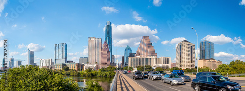 Aluminium Prints Texas view of Austin, downtown skyline