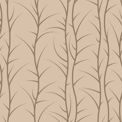 Seamless floral pattern of spiny branches