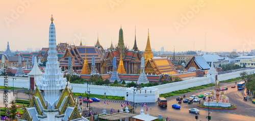 Aluminium Prints Bangkok Temple of the Emerald Buddha