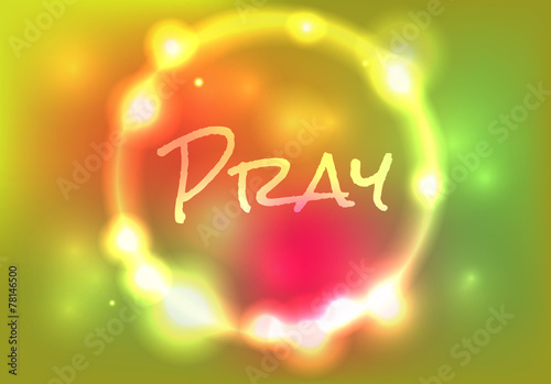 Pray Abstract Glow Illustration Wallpaper Mural