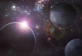 Deep space exoplanet illustration