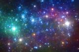 Niebiesko purpurowy kosmos