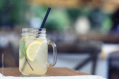 Valokuva homemade lemonade