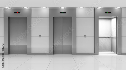 Modern Elevator Hall Interior Wallpaper Mural