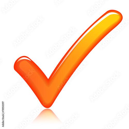 Fotografie, Obraz  orange check mark