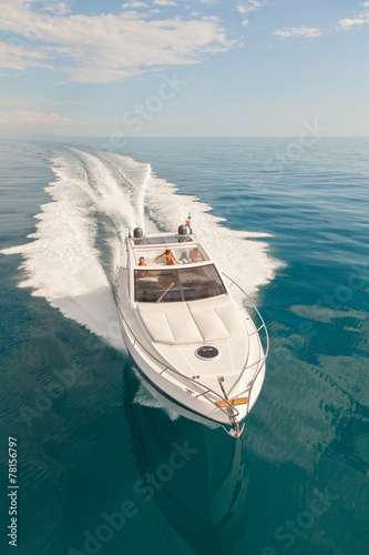 Obraz na płótnie motor boat