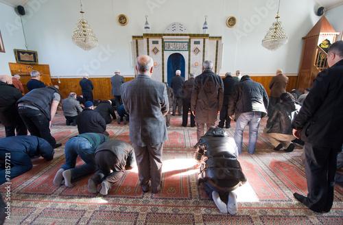 Prier dans la mosquée Poster Mural XXL
