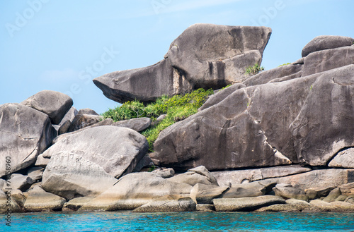 Photo  Similan islands, Beautiful view of donald duck or boot rock, Tha