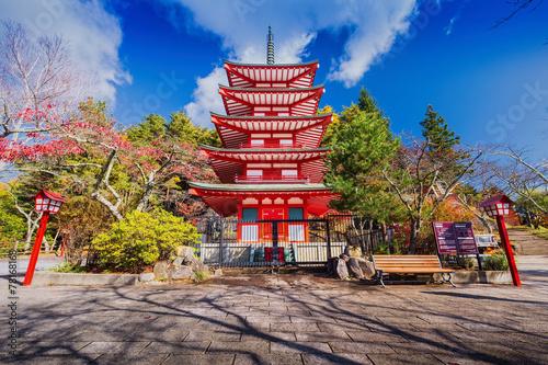Fotobehang Tokyo Chureito Pagoda in autumn, Fujiyoshida, Japan