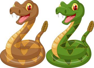 Cartoon rattle snake
