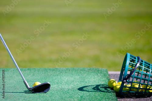 Deurstickers Golf Golf practice