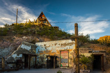 An Old Mine And House In Oatman, Arizona.