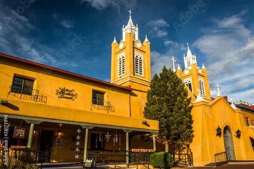 Photo Evening light on San Felipe Neri Church, in Old Town,  Albuquerq