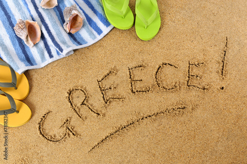 Foto op Canvas Australië Greece beach background