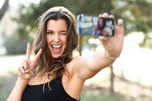 Beautiful Young Woman Selfie I...