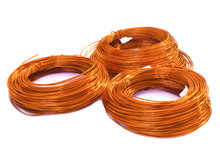 Copper Wire On White Background