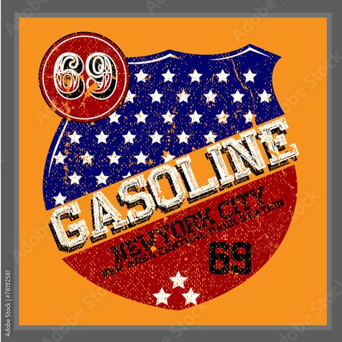 Vintage Gasoline & Motor oil   T-shirt Printing