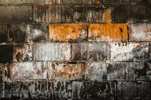 Staande foto Praag Old Brick Wall Background