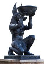 Egyptian Ancient Art Anubis Sc...