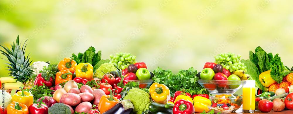 Fototapeta Fruits and vegetables.